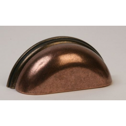 Copper & Oil Rubbed Bronze Cup Pull