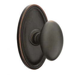 No. 1003 Door Knob (OVL) Oil Rubbed Bronze
