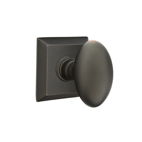 No. 1003 Door Knob (SQR) Oil Rubbed Bronze