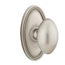 No. 1003 Door Knob (OVL) Pewter