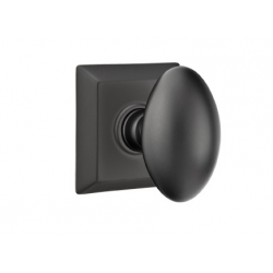 No. 1003 Door Knob (SQR) Flat Black