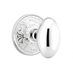 No. 1003 Door Knob (ORN) Polished Chrome