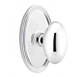 No. 1003 Door Knob (OVL) Polished Chrome
