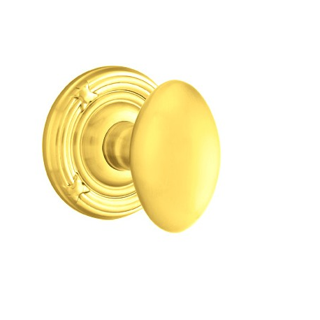 No. 1003 Door Knob (RBR) Polished Brass