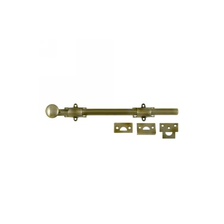 "12"" Surface Bolt in Antique Brass"