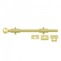 """12"""" Surface Bolt in Polished Brass"""