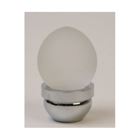 Acorn Glass Knob / Frosted & Chrome