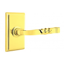 No. 5010 Door Lever (RCT) Polished Brass