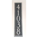 Roped Column Address Plaque