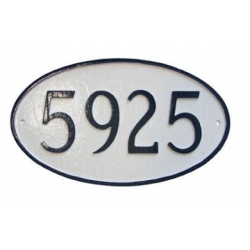Basic Oval Address Plaque