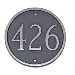 Circle Address Plaque