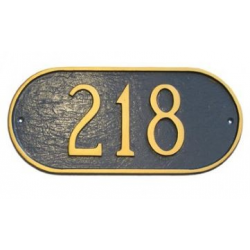 Oblong Horizontal Address Plaque