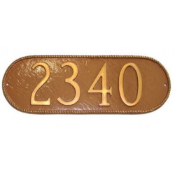 Roped Oblong Horizontal Address Plaque
