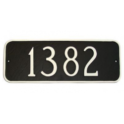 Horizontal Rectangular Address Plaque