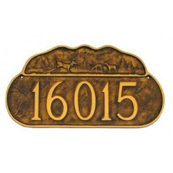 Deer Motif Address Plaque
