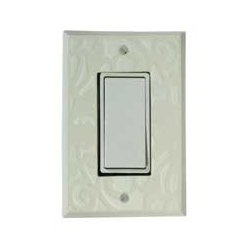 White Design Single Decora Switch Plate