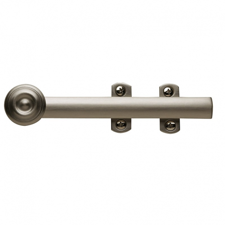 "6"" Decorative Surface Bolt in Satin Nickel"
