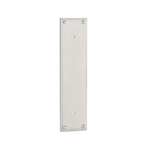 Satin Nickel Modern Pull Plate 8""