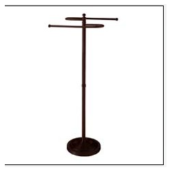 """Oil Rubbed Bronze """"S"""" Shaped Towel Rack"""
