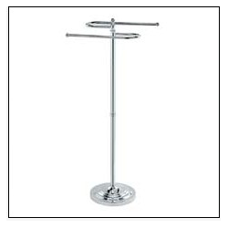 "Chrome ""S"" Shaped Towel Rack"