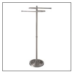 "Satin Nickel ""S"" Shaped Towel Rack"