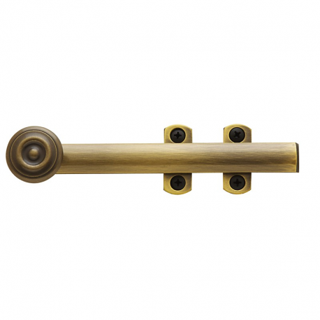 "6"" Decorative Surface Bolt in Antique Brass"
