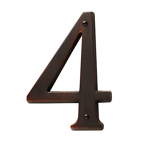 Venetian Bronze House Number 4