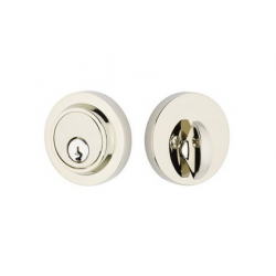Modern Single Cylinder Deadbolt Polished Chrome Nickel