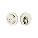 Modern Single Cylinder Deadbolt Polished Nickel