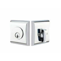 Curved Square Double Cylinder Deadbolt Polished Chrome