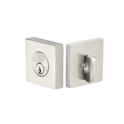 Square Double Cylinder Deadbolt Satin Nickel
