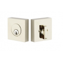 Square Double Cylinder Deadbolt Polished Nickel