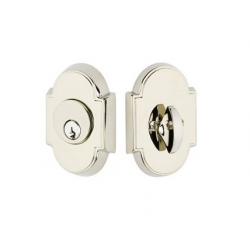 Arched Double Cylinder Deadbolt Polished Nickel