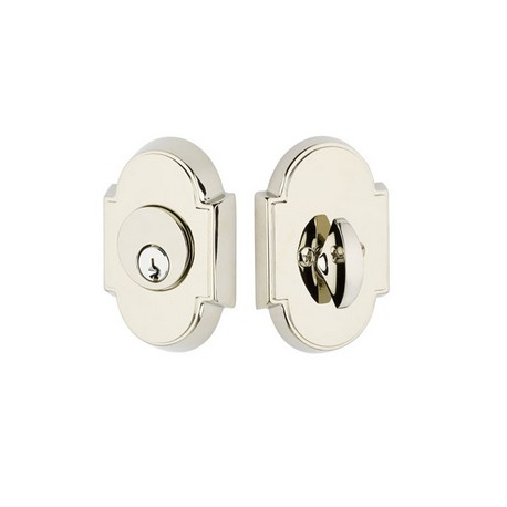 Arched Double Cylinder Deadbolt Satin Nickel