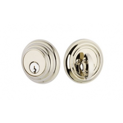 Low Profile Single Cylinder Deadbolt Polished Nickel