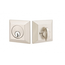 Square Single Cylinder Deadbolt Satin Nickel