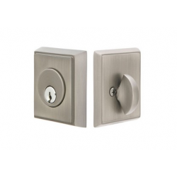 Rectangular Double Cylinder Deadbolt Pewter