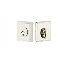 Rectangular Double Cylinder Deadbolt Polished Nickel