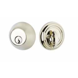 Regular Single Cylinder Deadbolt Polished Nickel