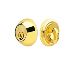 Regular Single Cylinder Deadbolt Polished Brass