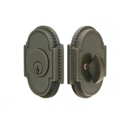 Ornate Single Cylinder Deadbolt Oil Rubbed Bronze