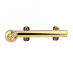 "6"" Decorative Surface Bolt in Polished Brass"