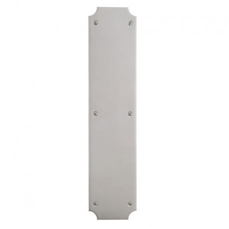Colonial Door Push Plate in Satin Nickel 001-117